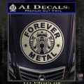 Forever Metal Decal Sticker Starbucks Metallic Silver Emblem 120x120