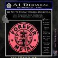 Forever Metal Decal Sticker Starbucks Pink Emblem 120x120