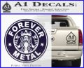 Forever Metal Decal Sticker Starbucks PurpleEmblem Logo 120x97