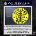 Forever Metal Decal Sticker Starbucks Yellow Laptop 120x120