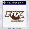 Fox Shox Decal Sticker D1 BROWN Vinyl 120x120