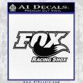 Fox Shox Decal Sticker D1 Black Vinyl 120x120