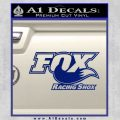 Fox Shox Decal Sticker D1 Blue Vinyl 120x120