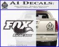 Fox Shox Decal Sticker D1 Carbon FIber Black Vinyl 120x97