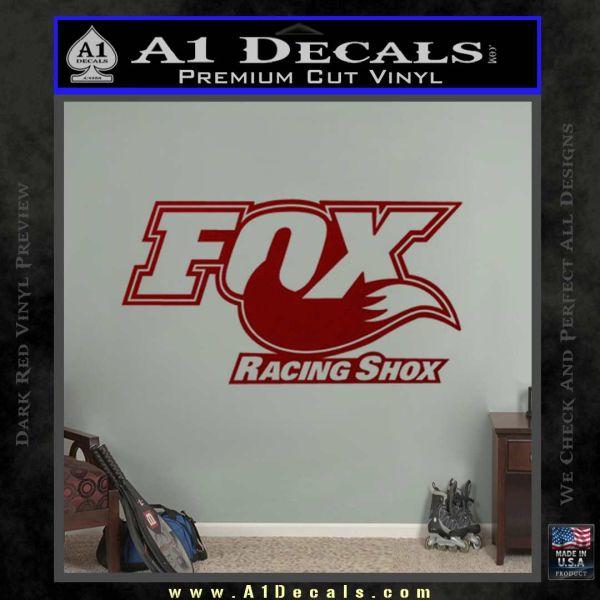 Fox Shox Decal Sticker D1 DRD Vinyl