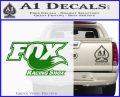 Fox Shox Decal Sticker D1 Green Vinyl Logo 120x97
