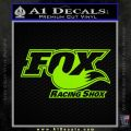 Fox Shox Decal Sticker D1 Lime Green Vinyl 120x120