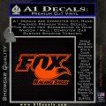 Fox Shox Decal Sticker D1 Orange Emblem 120x120