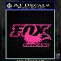Fox Shox Decal Sticker D1 Pink Hot Vinyl 120x120
