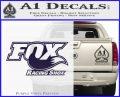 Fox Shox Decal Sticker D1 PurpleEmblem Logo 120x97