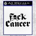 Fuck Cancer Decal Sticker Black Vinyl 120x120