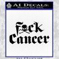 Fuck Cancer Decal Sticker Black Vinyl 120x120