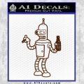 Futurama Bender Beer Cigar Decal Sticker BROWN Vinyl 120x120