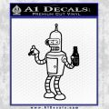 Futurama Bender Beer Cigar Decal Sticker Black Vinyl 120x120