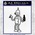 Futurama Bender Beer Cigar Decal Sticker Black Vinyl 120x120