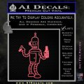 Futurama Bender Beer Cigar Decal Sticker Pink Emblem 120x120