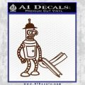 Futurama Bender Bending Girder Decal Sticker BROWN Vinyl 120x120