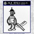 Futurama Bender Bending Girder Decal Sticker Black Vinyl 120x120