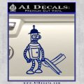 Futurama Bender Bending Girder Decal Sticker Blue Vinyl 120x120