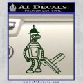 Futurama Bender Bending Girder Decal Sticker Dark Green Vinyl 120x120
