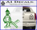 Futurama Bender Bending Girder Decal Sticker Green Vinyl Logo 120x97