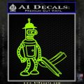 Futurama Bender Bending Girder Decal Sticker Lime Green Vinyl 120x120
