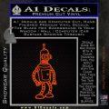 Futurama Bender Decal Sticker Orange Emblem 120x120