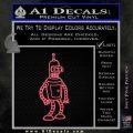 Futurama Bender Decal Sticker Pink Emblem 120x120