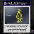 Futurama Bender Decal Sticker Yellow Laptop 120x120