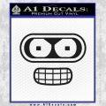Futurama Bender Face Decal Sticker Black Vinyl 120x120