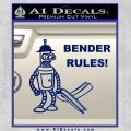 Futurama Bender Rules Construction Hat Decal Sticker Blue Vinyl 120x120
