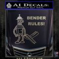 Futurama Bender Rules Construction Hat Decal Sticker Carbon FIber Chrome Vinyl 120x120