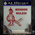 Futurama Bender Rules Construction Hat Decal Sticker DRD Vinyl 120x120