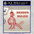 Futurama Bender Rules Construction Hat Decal Sticker Red 120x120