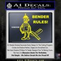 Futurama Bender Rules Construction Hat Decal Sticker Yellow Laptop 120x120