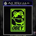 Futurama Hypnotoad Obey Decal Sticker Lime Green Vinyl 120x120