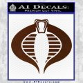 GI Joe Cobra Decal Sticker BROWN Vinyl 120x120