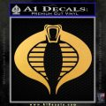 GI Joe Cobra Decal Sticker Gold Vinyl 120x120