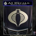 GI Joe Cobra Decal Sticker Metallic Silver Emblem 120x120