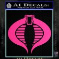 GI Joe Cobra Decal Sticker Pink Hot Vinyl 120x120