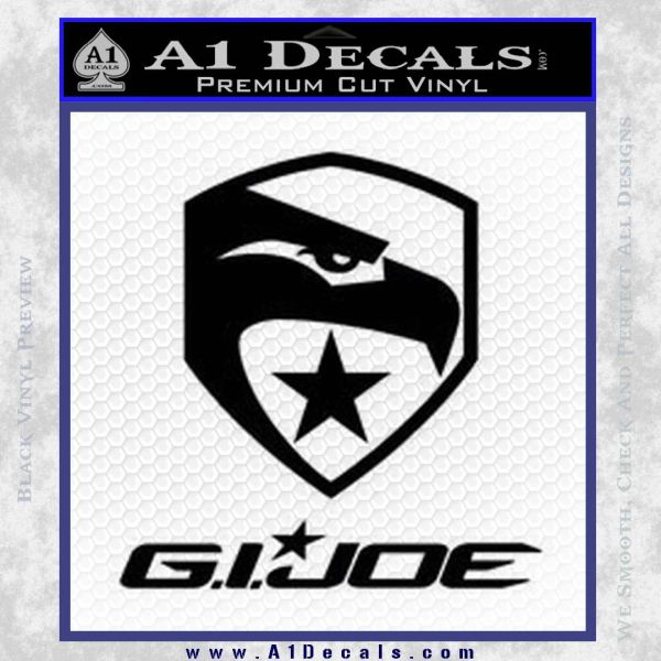 GI Joe Decal Sticker Movie Black Vinyl
