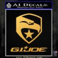 GI Joe Decal Sticker Movie Gold Vinyl 120x120