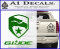 GI Joe Decal Sticker Movie Green Vinyl Logo 120x97