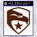 GI Joe Decal Sticker Shield BROWN Vinyl 120x120
