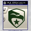 GI Joe Decal Sticker Shield Dark Green Vinyl 120x120