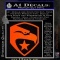 GI Joe Decal Sticker Shield Orange Emblem 120x120