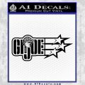 GI Joe Original Decal Sticker Black Vinyl 120x120