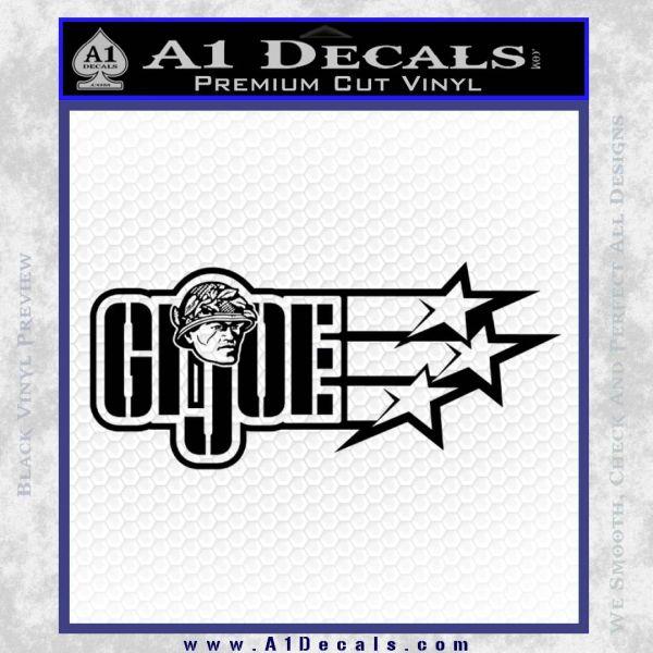 GI Joe Original Decal Sticker Black Vinyl