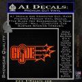 GI Joe Original Decal Sticker Orange Emblem 120x120