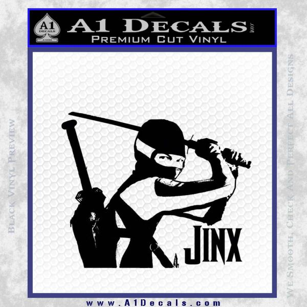GI Joe Retaliation Jinx Ninja Decal Sticker Black Vinyl